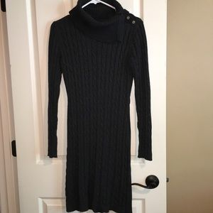 GRAY CALVIN KLEIN SMALL SWEATER DRESS
